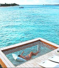 Built-in hammock on your dock!