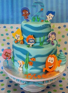 birthday parties, beach cakes, bubble guppies birthday, first birthdays, boy birthday, 2nd birthday, bubbl guppi, first birthday cakes, birthday ideas