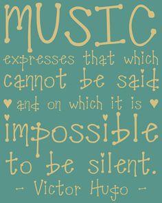 Victor Hugo quote. <3 It !