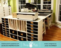office spaces, office designs, offic design, design offic, craftroom inspir, scrapbooking rooms, offic idea, papercraft craftroom, craft rooms