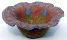 Felted Tapestry Crochet Basket