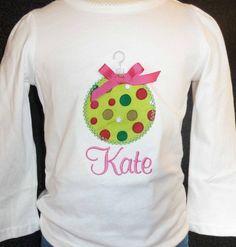 balls, kids christmas applique, ornament appliqu, christma shirt, monogram, christmas decorations, appliques, christmas ornaments, christmas shirts for kids