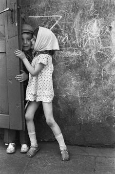 Romualdas Požerskis. The girl spotted dress. Vilnius, 1977.