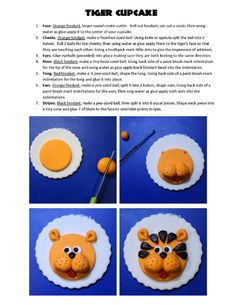 Tiger Cupcake Topper