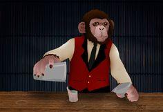 Monkey as a bartender.