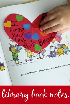 Acts of Kindness for Kids--Leave a Note in a Library Book!