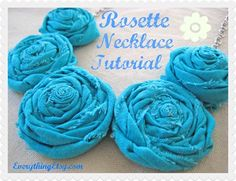 Rosette Necklace Tutorial – DIY Gifts - EverythingEtsy.com