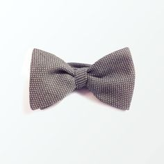 Men's Bow Tie, Gray Woven Cotton Self Bow Tie for Men, Wedding & GIft / READY TO SHIP/