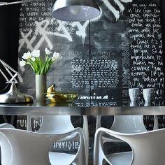 #interiordecor #interior #decorhome #interiordesign #decor #interiores #decoração #kitchen #cozinha #breakfast #lunch #dinner #detail #wall #covered #painting #drawing #frame #art #blackboard #idea #chair #design #table #instamood #instacool #instadaily #instadecor #instapic #Padgram