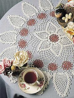 Ravelry: Pinks & Pineapples Doily pattern by Emma L. Willey