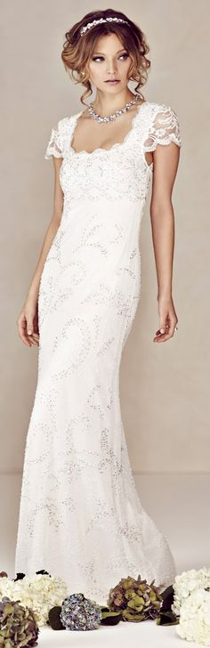 white wedding dresses - #white #dresses - article with info about flapper look