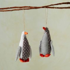 Purl Soho Printed Fabric Penguin Ornament | west elm