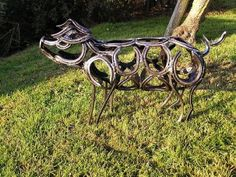 horse shoe art | JustaCarGal: Horseshoe Art by Tom Hill