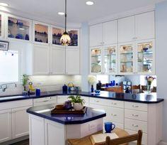#copadadecor Azul e branco na cozinha