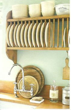 I really love the look of the plate rack