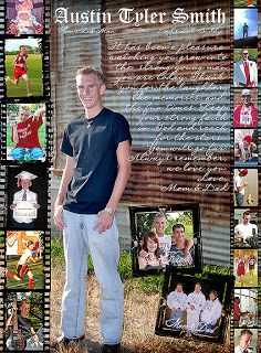 Senior yearbook ad- One main picture; lots of small ones