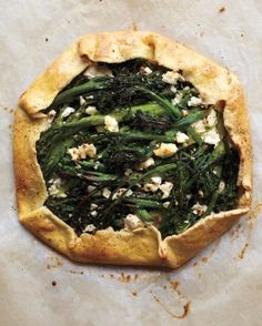 23 seasonal ideas for a meat-free thanksgiving. We eat turkey but still want this Broccolini and Feta Galette!