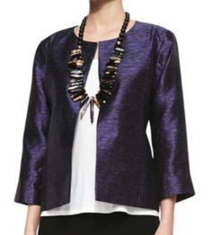 Eileen Fisher Plus Size Silk Jacket - GORGEOUS COLOR!