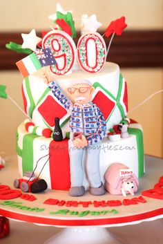"90th birthday cake...because we love helping ""kids"" of all ages create fun memories!"