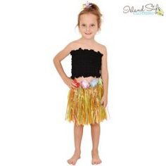 white hula skirt gra