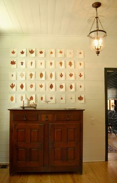 fall leaves wall art, fall leaves, autumn leaves, paper, gallery walls, display, hous, leaf art, design