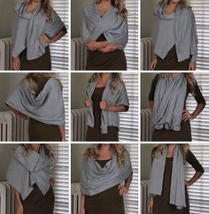 Hammers and High Heels: Sew Easy DIY Multi-Wear Snap Scarf