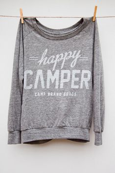 sweater, happi camper, fashion, camping, sleev, camps, camp brand, happy campers, shirt