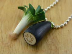 Veggies Necklace. $20.00, via Etsy.