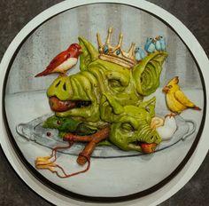 """""""furios fowl"""" threadless cake"""