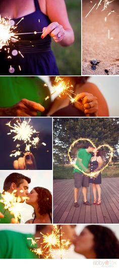 Sparkler Engagement Photos