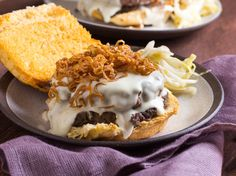 Mornay and Mushroom Duxelles Burger With Crispy Shallots