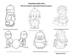 Real vs Make Believe Winter Themed worksheet FREE