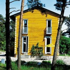 wall colors, inspir maison, exterior colour, yellow houses, hello yellow, une maison, summer houses