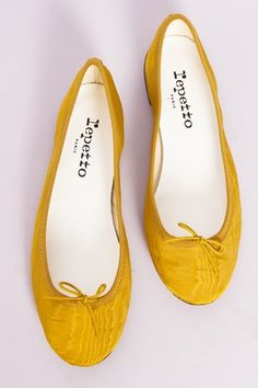 I want a pair of Repetto's, in mustard yellow. Oh, so much.