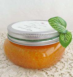 How to Make Salt and Honey Scrub with Grapefruit and Rosemary:  kosher salt, olive oil, honey, grapefruit essential oil and rosemary essential oil and a bit of sugar