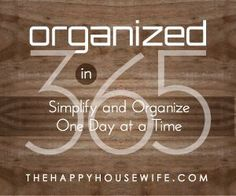 good tips on organization