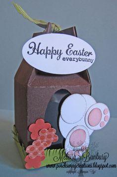 Bunny Bum Milk Carton
