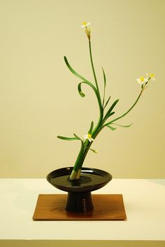 Simple Japanese flower arrangement