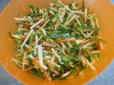 Sunny afternoon slaw [recipe: jicama, apple, and cabbage slaw] from Greenling
