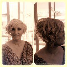 Soft waves on short bob (wedding hair)