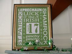 "Saint Patricks Day style- getting ready for Saturday- Funny from last night- ""I swear to drunk I am not god!"" holiday, subway art, saint patricks day, st patti, st patrick, crafti idea, art projects, stpatrick, craft board"