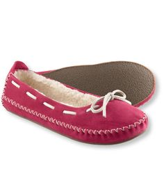 Pink moccasin slippers