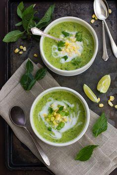 Creamy Thai Zucchini and Corn Soup