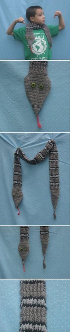 Rattlesnake scarf