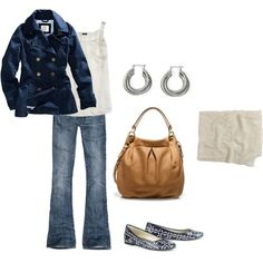Cute fall navy outfit