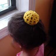 Classic Crochet Bun Cover - the easiest to make and the prettiest hair accessory!