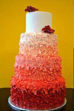 Ombre Petal Cake petal cake