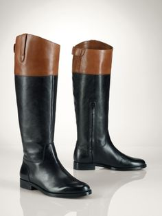Vachetta Two-Tone Riding Boot