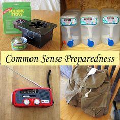 Commmon Sense Preparedness