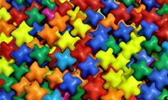 Bright Plastic Shapes Tough Jigsaw Puzzle - click to play! #jigsaw #puzzles